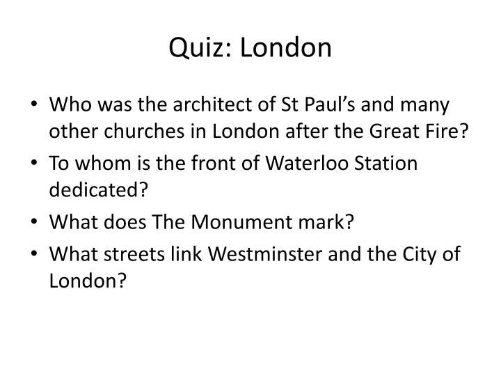Quiz: London