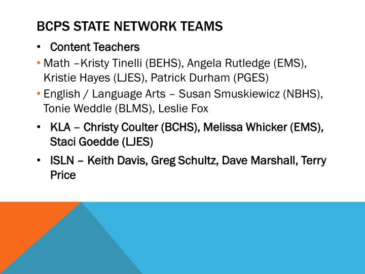 BCPS STATE NETWORK