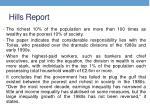 hills report