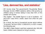 lies damned lies and statistics