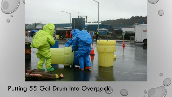 Putting 55-Gal Drum Into