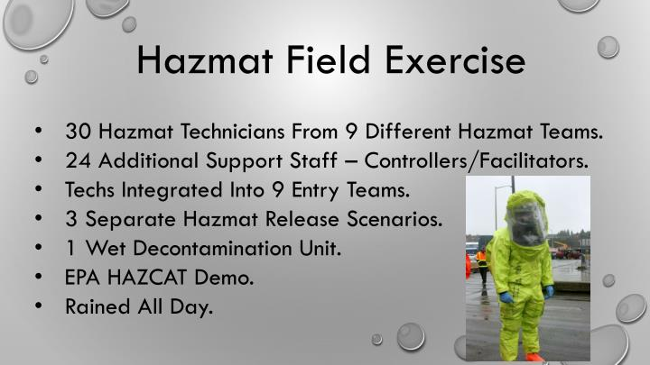 Hazmat Field Exercise