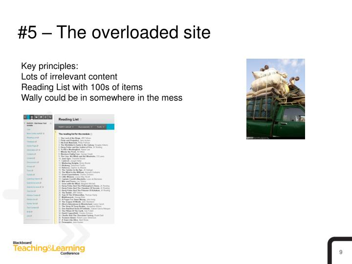 #5 – The overloaded site