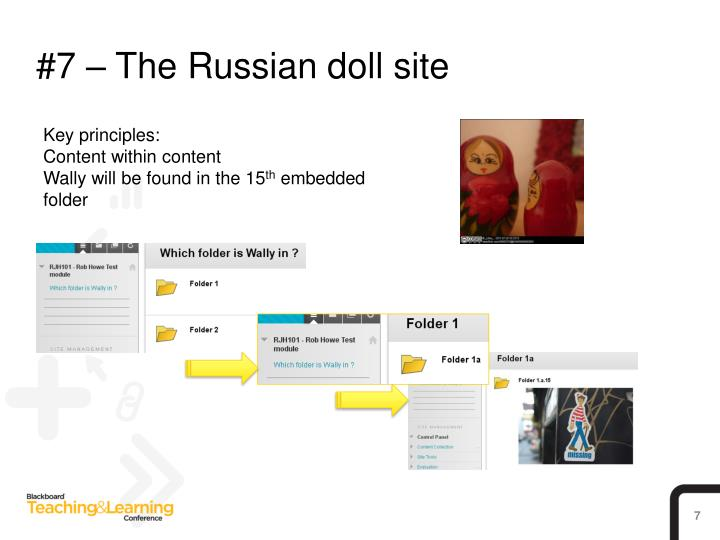 #7 – The Russian doll site