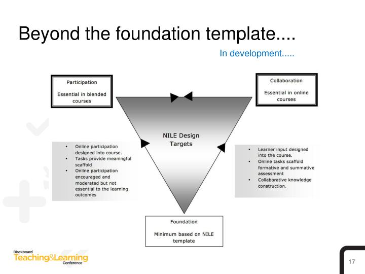 Beyond the foundation template....