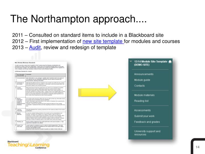 The Northampton approach....