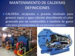 mantenimiento de calderas definiciones