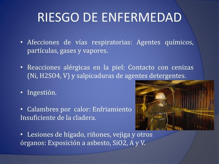 RIESGO DE ENFERMEDAD