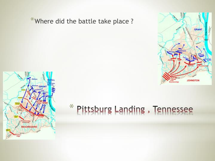 Where did the battle take place ?