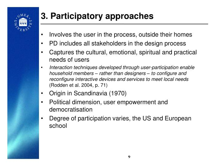 3. Participatory approaches