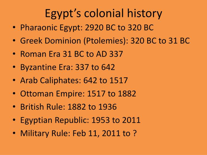 Egypt's colonial history