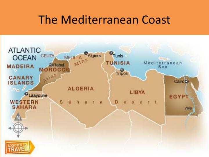 The mediterranean coast