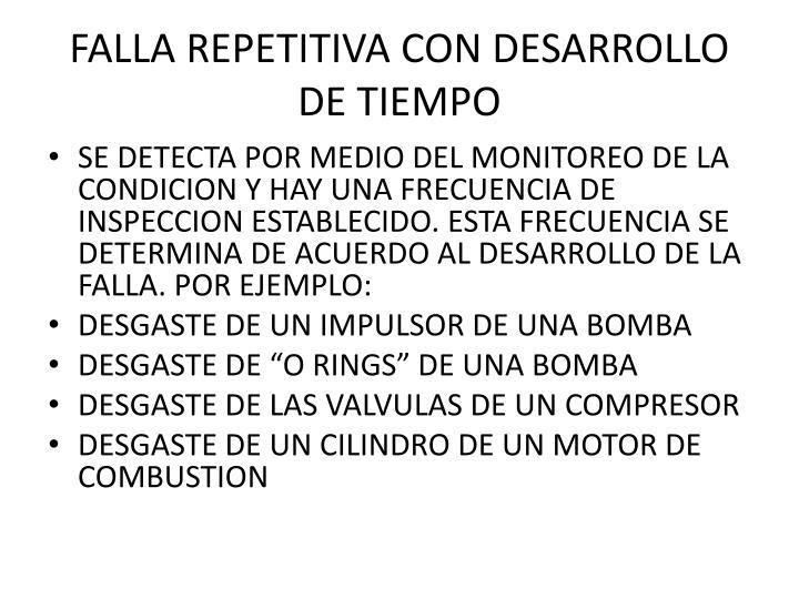 FALLA REPETITIVA CON DESARROLLO DE TIEMPO