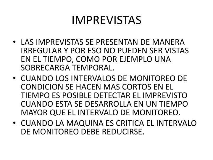 IMPREVISTAS