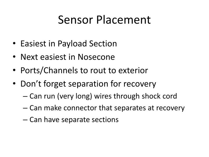 Sensor Placement