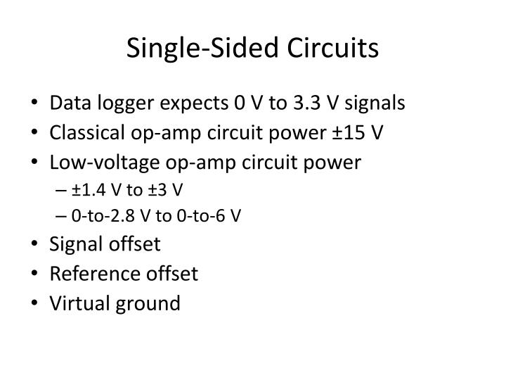 Single-Sided Circuits
