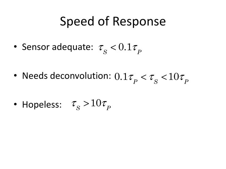Speed of Response