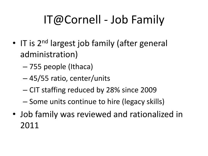 It@cornell job family