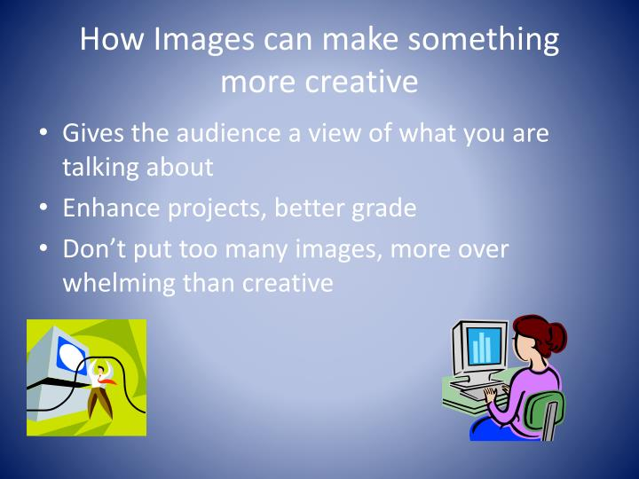 How images can make something more creative