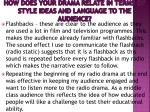 how does your drama relate in terms of style ideas and language to the audience