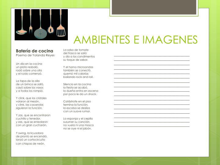 AMBIENTES E IMAGENES