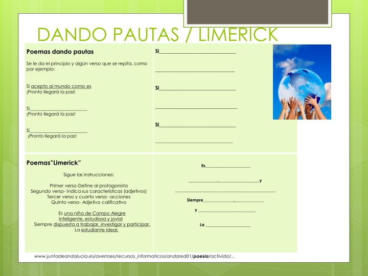 DANDO PAUTAS / LIMERICK