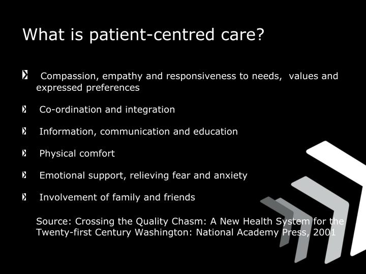 What is patient-centred care?