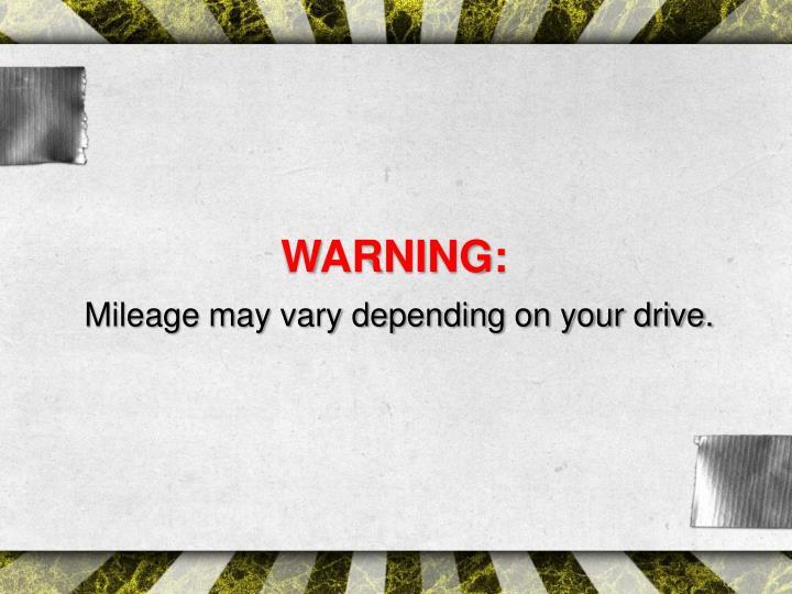 WARNING: