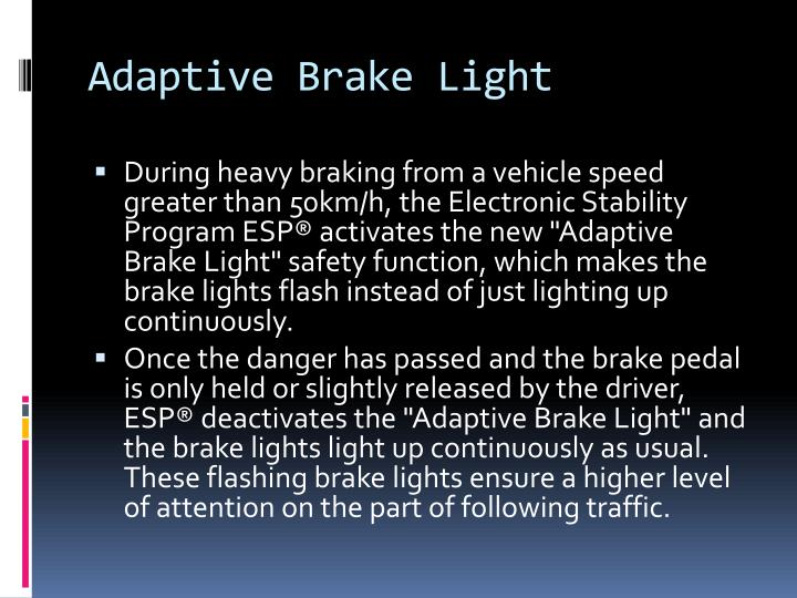Adaptive Brake Light