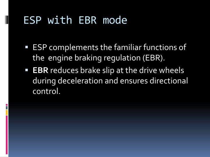 ESP with EBR mode