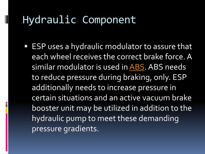 Hydraulic Component