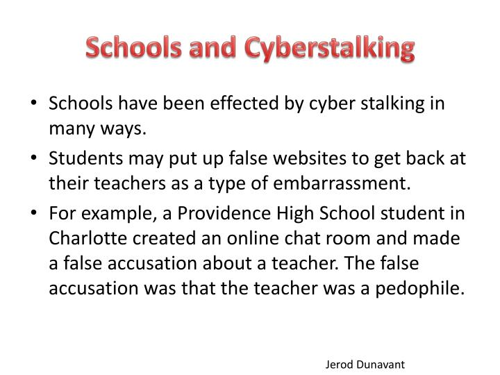 Schools and Cyberstalking