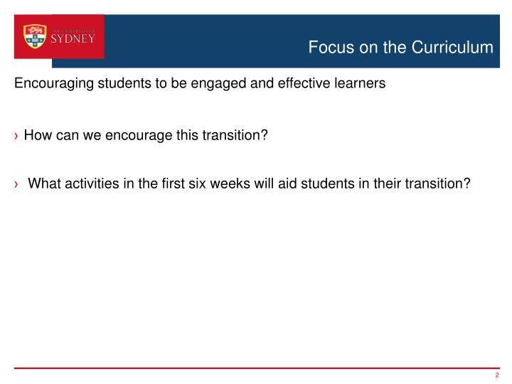 Focus on the Curriculum