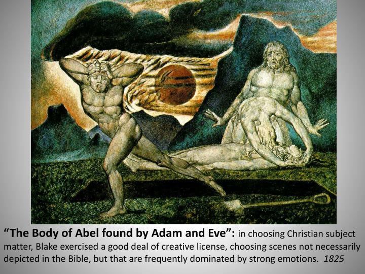 """The Body of Abel found by Adam and Eve"":"