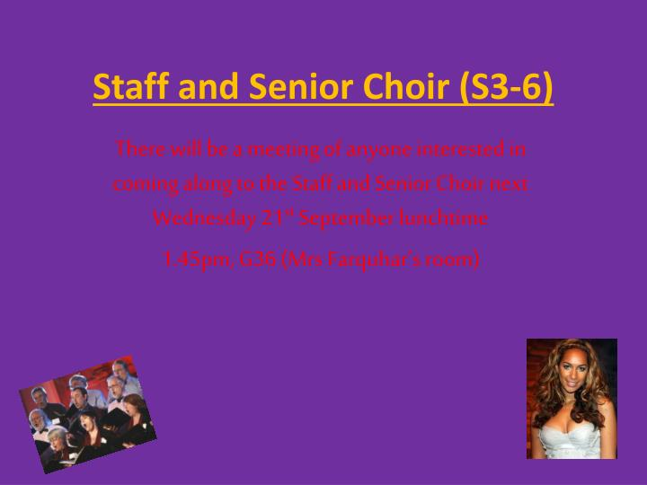 Staff and Senior Choir (S3-6)