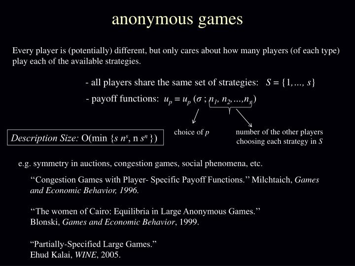 anonymous games
