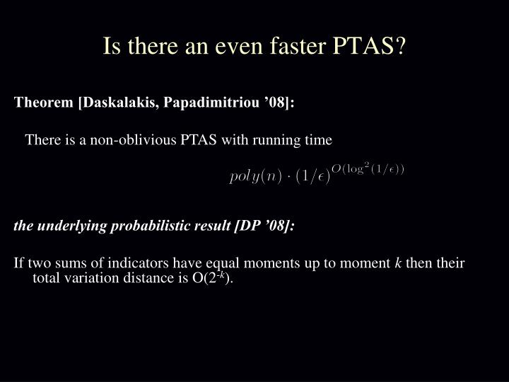 Is there an even faster PTAS?