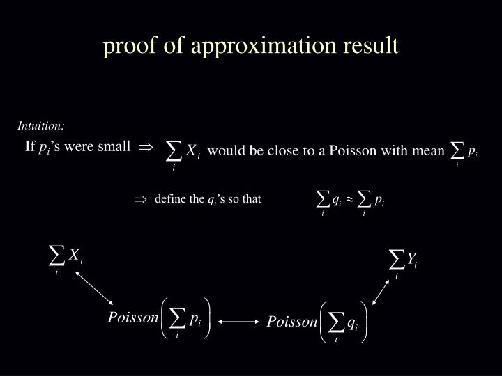 proof of approximation result