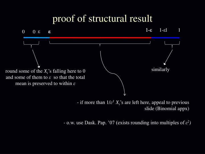 proof of structural result