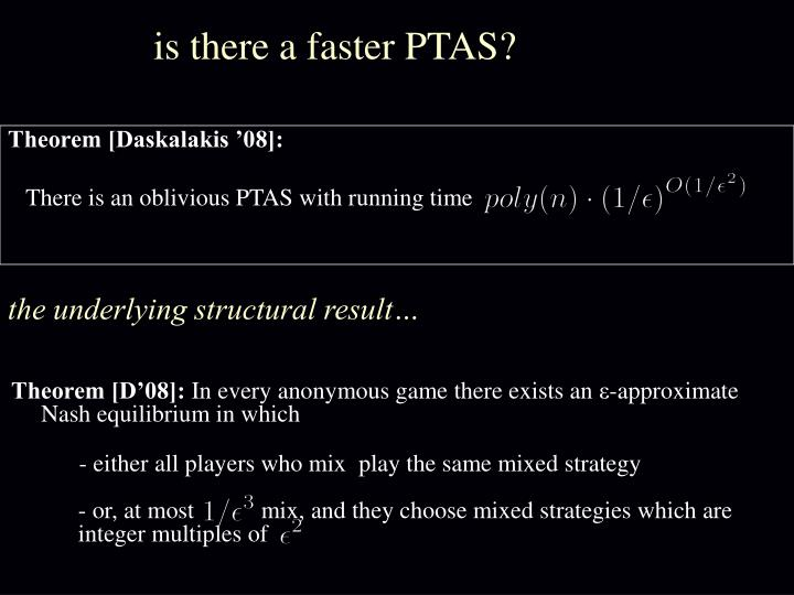 is there a faster PTAS?