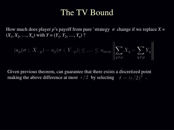 The TV Bound