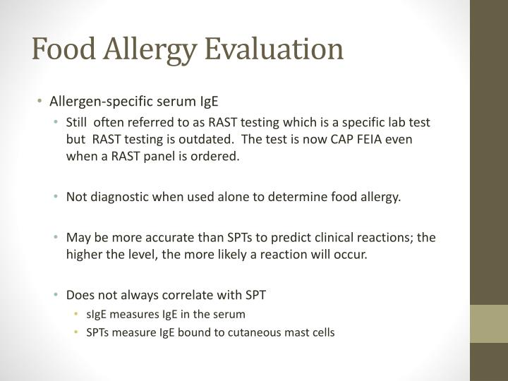 Food Allergy Evaluation
