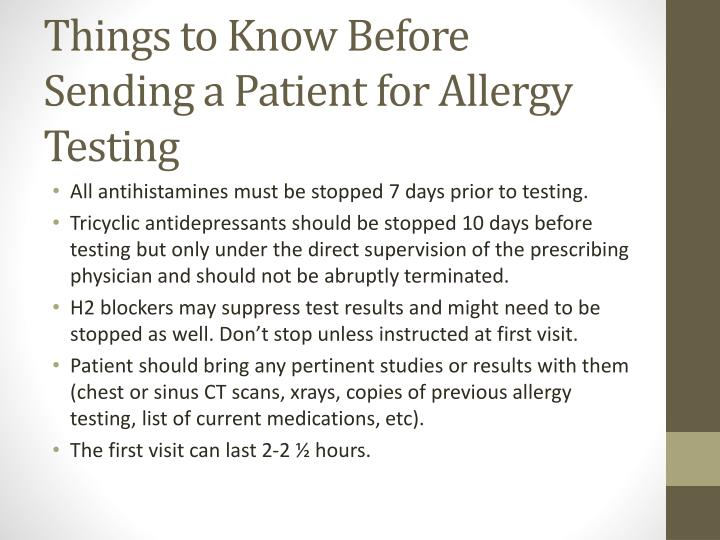 Things to Know Before Sending a Patient for Allergy Testing