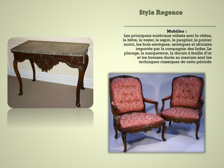 Style Regence
