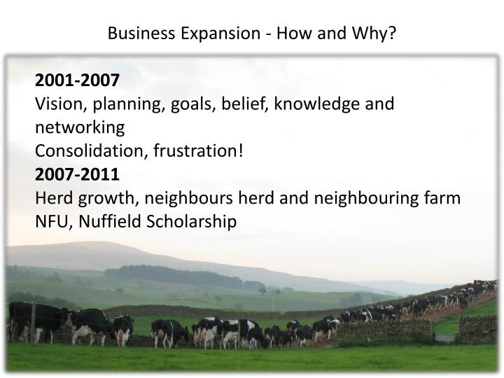 Business Expansion - How and Why?
