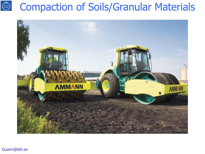 Compaction of soils granular materials