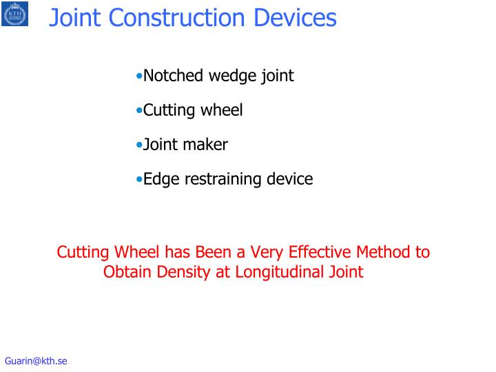 Joint Construction Devices
