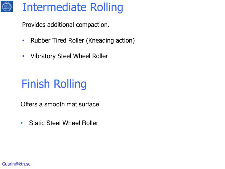 Intermediate Rolling