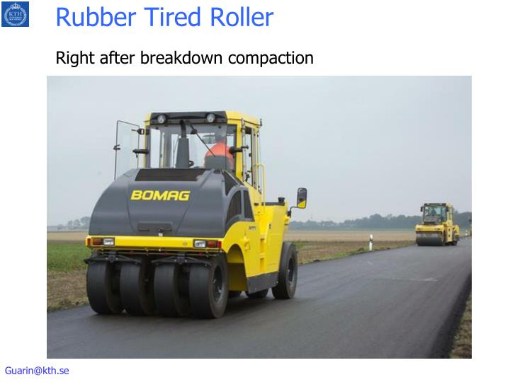 Rubber Tired Roller