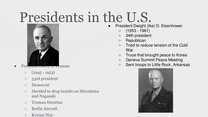 Presidents in the U.S.